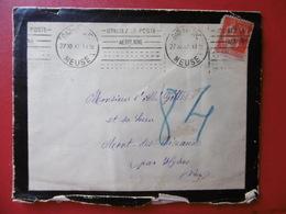 FLAMME BAR LE DUC POSTE AERIENNE POINTILLES 1932 TIMBRE TYPE PAIX Verso Vignette - 1921-1960: Période Moderne
