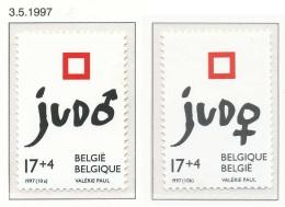 D- [153804] **/Mnh-[2703/04] Belgique 1997, Sports, Judo Masculin Et Féminin, SC, SNC - Judo