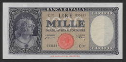 RARA LIRE 1.000 ITALIA TESTINA 1947 - FDS - [ 2] 1946-… : Républic