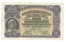 006 -  1000 CHF 2ème émission 07.09.1939 Etat Très Bon Signature RO No 1M 79855 - Suiza