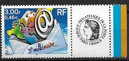 France 2000 N° 3365B Neuf** Avec Vignette Cote 5 Euros - Personalized Stamps