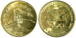 01892 GETTONE JETON TOKEN TRASPORTO TRANSIT GAMES OF THE XXIIIrd OLYMPIAD LOS ANGELES 1984 SCRTD FARE SWIMMING - USA