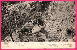 Sur La Frontière - Nos Douaniers En Embuscade - Militaire - Animée - E.L.D. - Cliché CHUSSEAU FLAVIENS - 1919 - Polizei - Gendarmerie