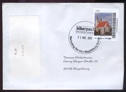 Biber Post, Gelaufener FDC 0,48 € Johanniskirche Magdeburg  V. 31.03.2015 #1507 - [7] République Fédérale
