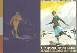 1924: 1994 :Jeux Olympiques:Chamonix/Lillehammer:entier-postal Recommandé - Winter 1924: Chamonix