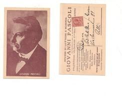$3-5738 Scrittore Giovanni Pascoli Palermo Corsi Viaggiata In Busta - Scrittori