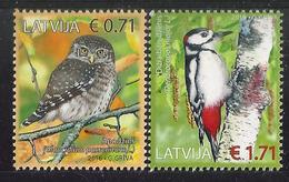 LV 2017 BIRDS, LETONIA, 1 X 2v, MNH - Passereaux