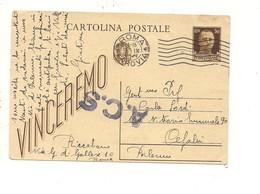 $3-5742 Intero Postale 3-9-1944 Roma Sicilia ACS Censura AMGOT - Interi Postali