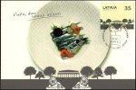 Latvia Lettland Lettonie 2012 (02) Restaurant Biblioteka No1   Park Sculpture Lion Architecture (maxicard) - Letonia