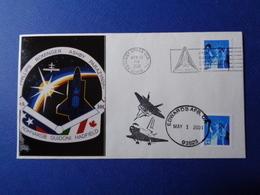STATI UNITI USA 2001 MISSIONE SPAZIALE STS-100 SPACE SHUTTLE N. 1 BUSTE FILATELICHE - Stati Uniti