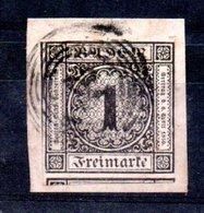 Baden / N 5 / 1 K Blanc Sur Fragment / Oblitéré / Côte 35 € - Baden