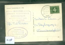 L.P. BRIEFOMSLAG Uit 1963  PER BALLONVLUCHT Van OPLOO Naar MAARTENSDIJK   (11.198) - Periode 1949-1980 (Juliana)