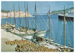 PORT-VENDRES (P-O) - Les Quais - Navires, Tonneaux, Immeubles - Photo Michel Nicolas - Non écrite -Scan Recto-verso - Port Vendres