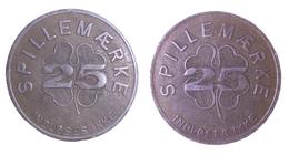 01118 GETTONE JETON TOKEN DENMARK SPILLEMARKE 25 INDLOSESIKKE - Unclassified