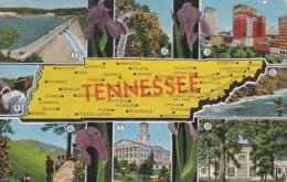 Map Of Tennessee - Etats-Unis