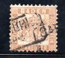 Baden / N 19 / 9 K Brun / Oblitéré / Côte 35 € - Baden