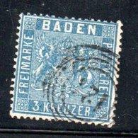 Baden / N 10 / 3 K Outremer / Oblitéré / Côte 25 € - Baden