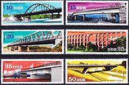 2017-0332 GDR 1976 Bridges Complete Set Mi 2163-2168 MNH ** - Brücken