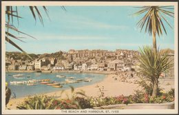 The Beach And Harbour, St Ives, Cornwall, C.1960s - Colourmaster Postcard - St.Ives