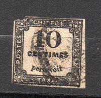 Timbre - Taxe Oblitéré --10c Noir  N° 2  ............à Saisir - Taxes