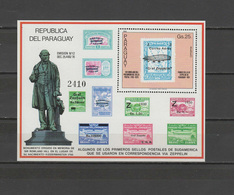 Paraguay 1980 Rowland Hill Death Centenary, Stamp On Stamp, Zepelin S/s MNH - Rowland Hill