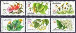 2017-0343 GDR 1978 European Medical Plants Complete Set Mi 2287-2292 MNH ** - Heilpflanzen