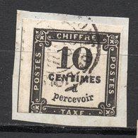 Timbre - Taxe Oblitéré Sur Fragment De Lettre  --10c Noir  N° 2  ............à Saisir - Taxes