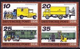 2017-0346 GDR 1978 Post Transports Complete Set Block Of 4 Mi 2299-2302 MNH ** - Post