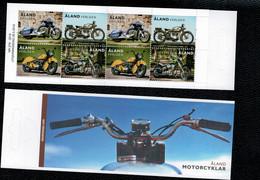 Aland 2018 MotorCycles Carnet Booklet 4vx2 Complete Set  ** MNH - Aland
