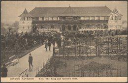 King & Queen's Visit, Ceylon Pavilion, British Empire Exhibition, 1924 - San Bride Postcard - Exhibitions