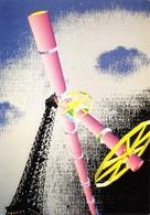 CPM - Image Réalisée Sur Palette électronique - La Comète Et Paris - Studio ENO - Electro Techno Circa 1980 - Arts