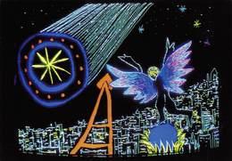 CPM - La Comète Et Paris - Michaël Gaumnitz - Image Réalisée Sur Palette électronique - Electro Techno Circa 1980 - Arts