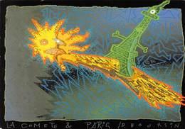 CPM - La Comète Et Paris - Daniel Boursin - Image Réalisée Sur Palette électronique - Electro Techno Circa 1980 - Arts