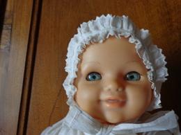 Bonnet De Bapteme De Bebe Pour Poupee Poupon - 1940-1970