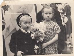 UKRAINE. A PHOTO. CHILDREN. PARADE. PIONEERS. MATROSK. ON THE BACKGROUND OF STALIN PORTRAIT. *** - Fotos