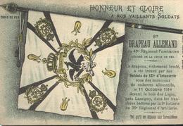 CPA Illustrée - Prise Du Drapeau Du 49ème Régiment Poméranien - Circulée 1918 - Illustrateurs & Photographes