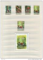 BUZIN / WWF ZAIRE 1984 / COB 1253  à 1257 + BL 58 / SERIE COMPLETE / TIMBRES DENTELES - 1985-.. Oiseaux (Buzin)