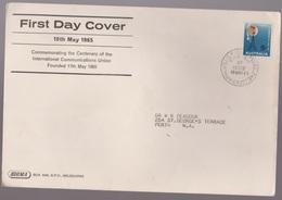 1965 Australia Centenary International Communications Union SIGMA Large FDC - Melbourne Cancel - FDC