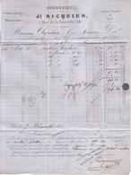 PARIS - DROGUERIES , PHARMACIE , RUE DE LA VERRERIE , 38 , TREHET PHARMACIEN - JS RICQUIER - 1855 - 1800 – 1899
