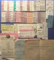 FS + Bus Lotto Di Oltre 50 Biglietti Anni 50/60 - Treni