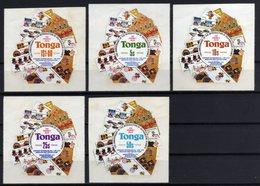 Tonga 1979 SG710-714 Death Centenary Of Sir Rowland Hill Set MNH Self-adhesive - Tonga (1970-...)