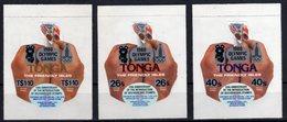 Tonga Olympic Games 1980 Sport Olympics Hand Bear Self-adhesive Set MNH - Tonga (1970-...)