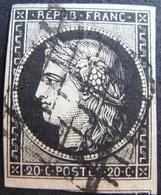 Lot R1530/5 - CERES N°3 - GRILLE NOIRE - Cote : 65,00 € - 1849-1850 Cérès