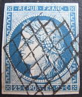 Lot R1530/6 - CERES N°4 - GRILLE NOIRE - Cote : 65,00 € - 1849-1850 Cérès