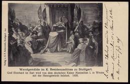 AK Stuttgart Wandgemälde Residenzschloss Kaiser Maximilian  (8525 - Deutschland