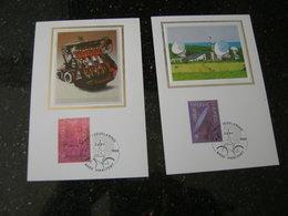 """BELG.1988 2283 & 2284 FDC Maxikaarten Zijde-soie (Haaltert) : """" EUROPA 1988 """" - FDC"""