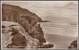 Western Cliffs & Droskyn Point, Perranporth, Cornwall, C.1940s - RP Postcard - Other