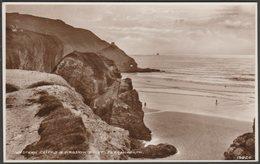 Western Cliffs & Droskyn Point, Perranporth, Cornwall, C.1940s - RP Postcard - England