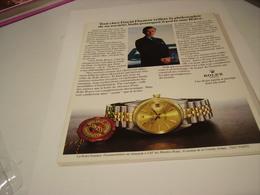 PUBLICITE AFFICHE MONTRE ROLEX CREATION GENEVE  1980 - Jewels & Clocks