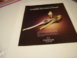 ANCIENNE PUBLICITE MONTRE OMEGA 1978 - Bijoux & Horlogerie